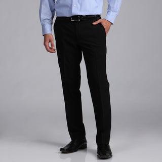 Kenneth Cole New York Men's Wool Blend Solid Black Pants