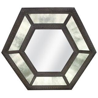 Antique Glass Hexagon Mirror