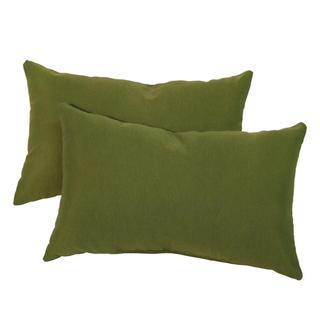 19x12-inch Rectangular Outdoor Summerside Green Accent Pillows (Set of 2)