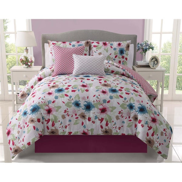 Natalie Reversible 5-piece Comforter Set