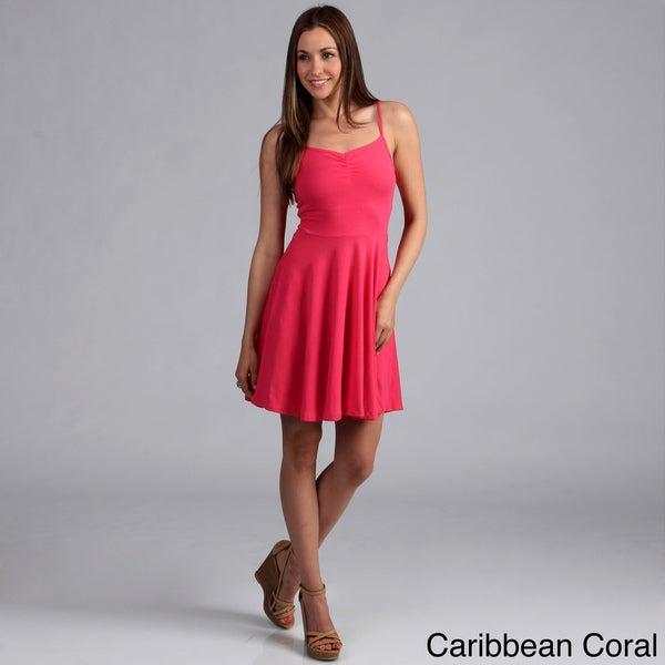 Derek Heart Women's Stretch Cotton Sweetheart Dress