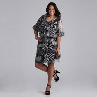Madison Paige Women's Plus Size Modern Geometric Dress