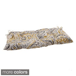 Pillow Perfect Outdoor Paisley Tufted Loveseat Cushion
