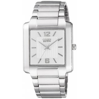 Citizen Men's Eco-Drive White Dial Stainless Steel Watch