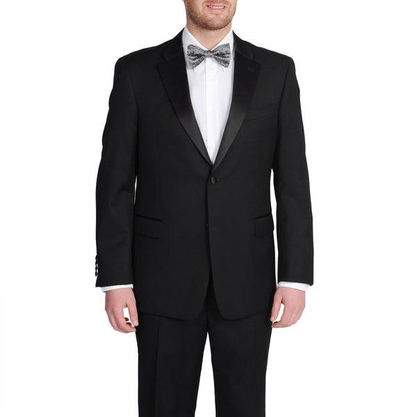 Tommy Hilfiger Black Wool Tuxedo Separates Jacket