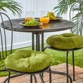 Hunter Green 15-inch Polyester Round Outdoor Bistro Chair Cushions (Set of 2)