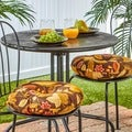 Woodland Floral 15-inch Polyester Round Outdoor Bistro Chair Cushions (Set of 2)