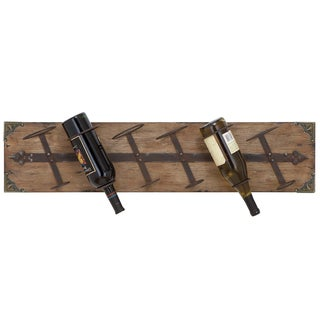 Reclaimed Wood Wall-mount 6-bottle Wine Holder