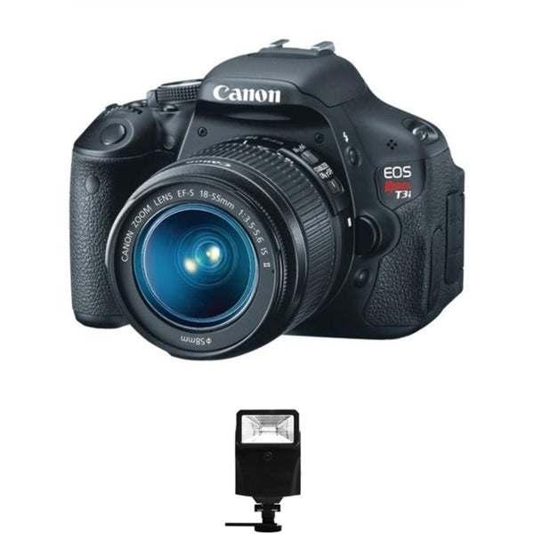 Canon EOS Rebel T3i DSLR Camera/ 18-55MM IS Lens/ Digital Flash Bundle