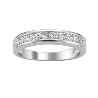 14k White Gold 3/4ct TDW Princess-cut Diamond Wedding Band (G-H, VS1-VS2)