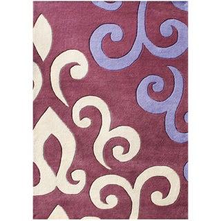 Alliyah Handmade Mouvewood New Zealand Blend Wool Rug (9 x 12)