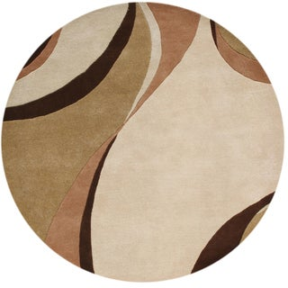 Handmade Alliyah Beige Blended Wool Area Rug (6' Round)