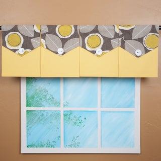 Design Your Valance Grey Floral 4-panel Valance