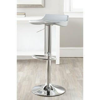 Safavieh Avish Silver 23.6-32.1-inch Adjustable Height Swivel Adjustable Bar Stool