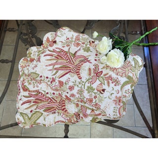 'Flowers in Paradise' Quilted Cotton Placemats (Set of 4)