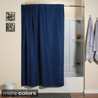 Aulaea Infinity Collection Shower Curtain with Integrated Hooks and Matching Liner
