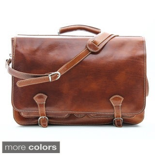 Alberto Bellucci 'Florence' Italian Leather Messenger Bag