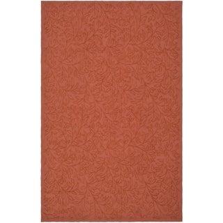 Martha Stewart Navigation Pink/ Sand Cotton Rug (7' 9 x 9' 9)