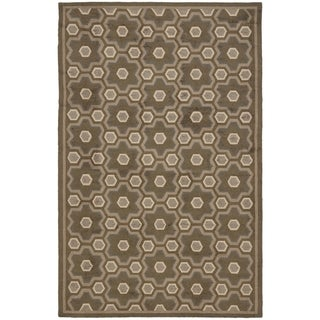 Martha Stewart Puzzle Molasses Brown Wool Rug (8' 6 x 11' 6)
