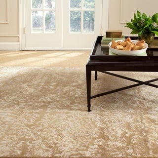 Martha Stewart Damask Honeycomb Wool/ Viscose Rug (7' 9 x 9' 9)