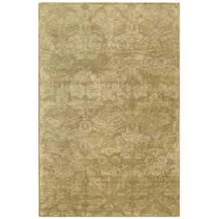 Martha Stewart Damask Sage Wool/ Viscose Rug (8' 6 x 11' 6)
