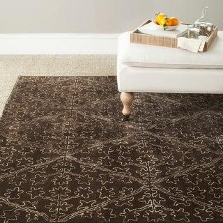 Martha Stewart Strolling Garden Coffee/ Brown Wool/ Viscose Rug (9' 6 x 13' 6)