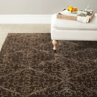 Martha Stewart Strolling Garden Coffee/ Brown Wool/ Viscose Rug (8' 6 x 11' 6)