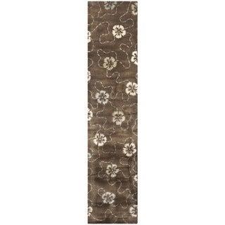 Martha Stewart Garland Mocha Wool/ Viscose Rug (2' 3 x 10')