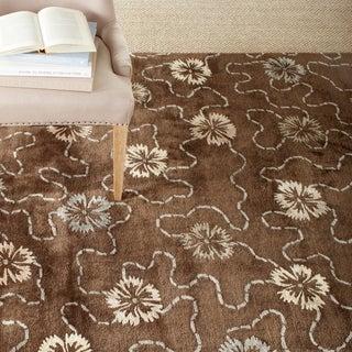 Martha Stewart Garland Mocha Wool/ Viscose Rug (7' 9 x 9' 9)