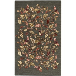 Martha Stewart Autumn Woods Francesca Black Wool/ Viscose Rug (9' x 12')
