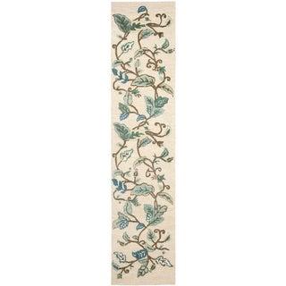Martha Stewart Autumn Woods Colonial Blue Wool/ Viscose Rug (2' 3 x 10')