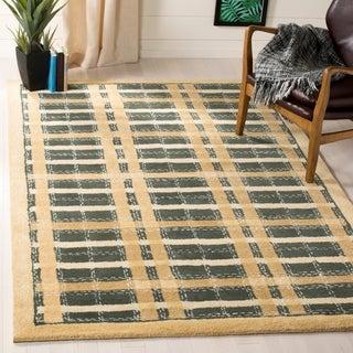 Martha Stewart Colorweave Plaid Cornucopia Gold Wool/ Viscose Rug (8' x 10')