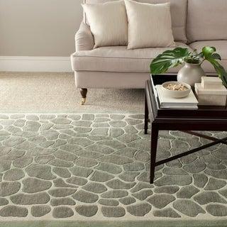 Martha Stewart Arusha Grassland Green Wool/ Viscose Rug (9' x 12')