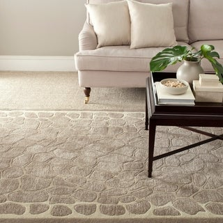 Martha Stewart Arusha Wheat Beige Wool/ Viscose Rug (9' x 12')