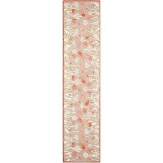 Martha Stewart Poppy Glossary Cayenne Red Wool/ Viscose Rug (2' 3 x 10')