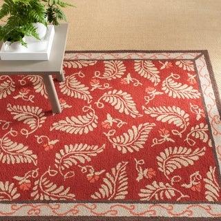 Martha Stewart Fern Frolic Saffron Red Wool Rug (8' x 10')