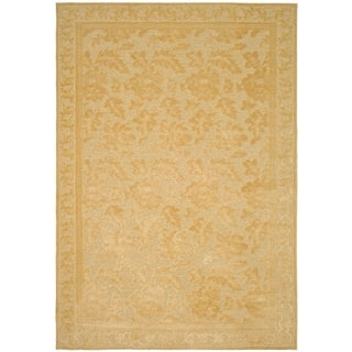 Martha Stewart Peony Damask Cream Viscose Rug (8' x 11' 2)