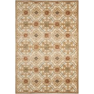 Martha Stewart Imperial Palace Taupe/ Cream Viscose Rug (8' x 11' 2)