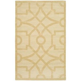 Martha Stewart Fretwork Gravel Wool Rug (8' x 10')