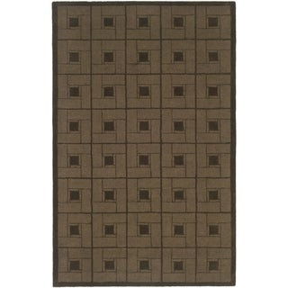 Martha Stewart Square Knot Bay Colt Wool Rug (9' x 12')