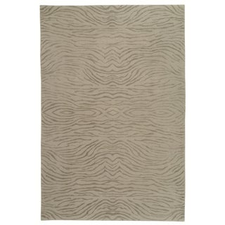 Martha Stewart Journey Stone Silk/ Wool Rug (8' 6 x 11' 6)