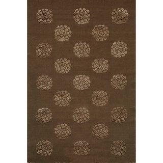 Martha Stewart Medallions Onyx Silk/ Wool Rug (8' 6 x 11' 6)