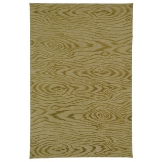 Martha Stewart Faux Bois Porcini Silk and Wool Rug (8' 6 x 11' 6)