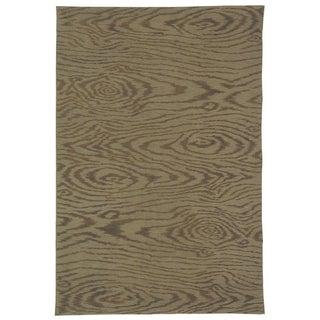 Martha Stewart Faux Bois Truffle Silk/ Wool Rug (7' 9 x 9' 9)