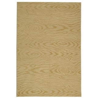 Martha Stewart Faux Bois Pinenut Silk/ Wool Rug (8' 6 x 11' 6)