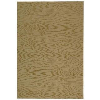 Martha Stewart Faux Bois Lichen Silk/ Wool Rug (9' 6 x 13' 6)