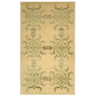 Martha Stewart Tracery Birch Silk/ Wool Rug (9' 6 x 13' 6)