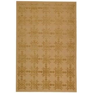 Martha Stewart Tracery Pecan Silk and Wool Rug (5' 6 x 8' 6)