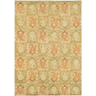 Martha Stewart Reflection Earth Silk/ Wool Rug (6' x 9')