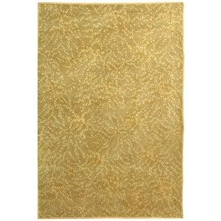Martha Stewart Sakura Turtle/ Amber Silk/ Wool Rug (8' x 10')
